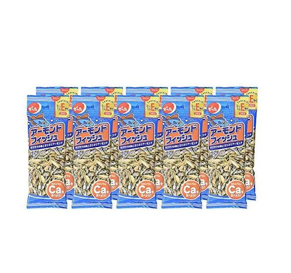 日本Denroku天六小鱼干杏仁 即食零食 28g*10包