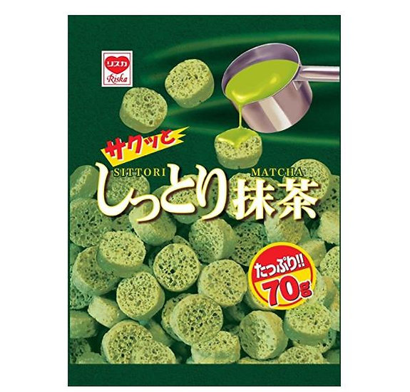 日本零食 Riska抹茶味饼干曲奇可牛奶冲泡 15包