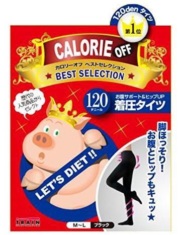 日本 TRAIN 小猪妹 阶段式着压收腹提臀瘦腿连裤袜 120D