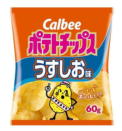 日本零食 Calbee卡乐比 天然薯片香醇土豆原味 5包