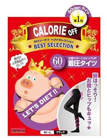日本 TRAIN 小猪妹 阶段式着压收腹提臀瘦腿连裤袜 60D