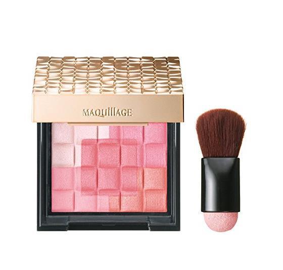 日本Shiseido资生堂 Maquillage心机五色3D立体腮红高光 全套带刷子