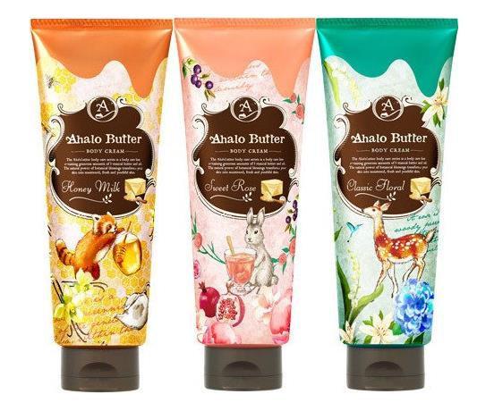 日本Ahalo Butter 天然护肤身体乳 纯植物胶原蛋白液润肤乳