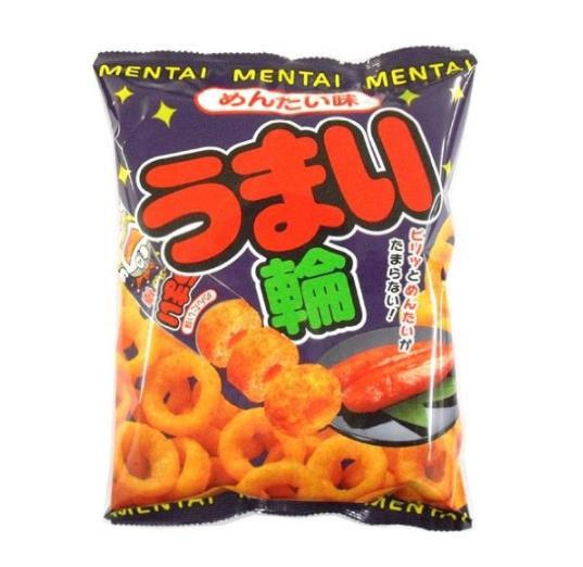 日本零食 Riska美味轮香浓粟米圏 九州明太子味 5包