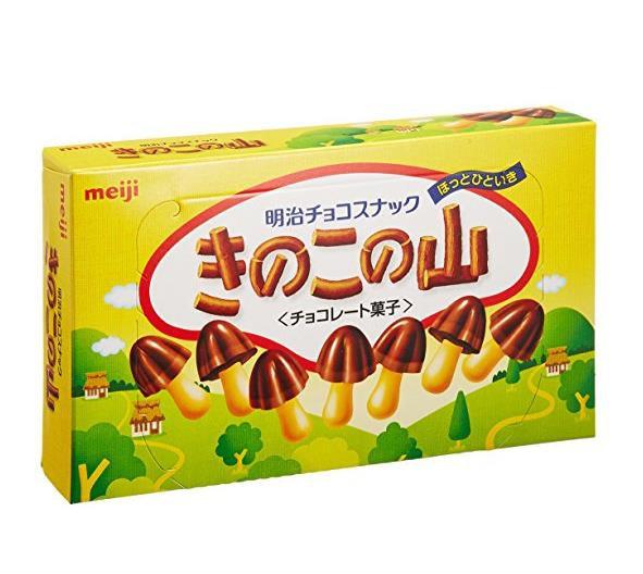 日本零食 明治meiji 蘑菇山牛奶巧克力饼干*10盒