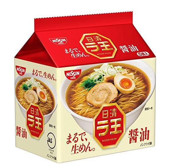 日本方便面 日清NISSIN 拉王酱油味拉面非油炸泡面