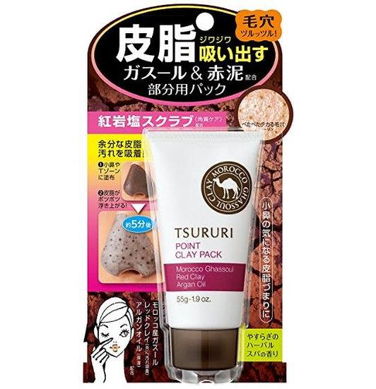 日本BCL TSURURI 红土火山灰鼻膜 去黑头清洁毛孔黑泥