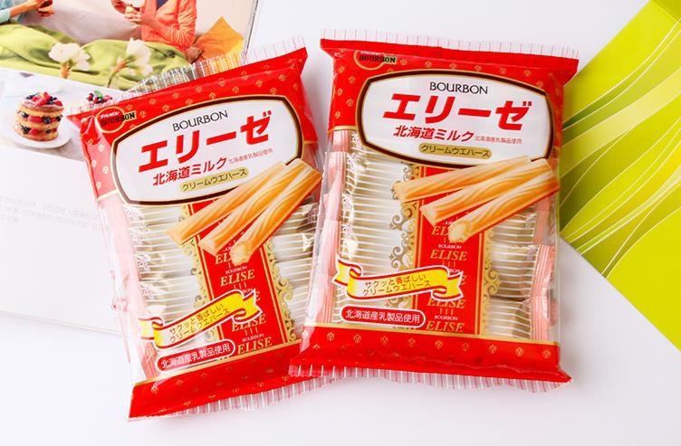 日本BOURBON波路梦 北海道奶香千层酥脆卷 61g 18根每包*12包