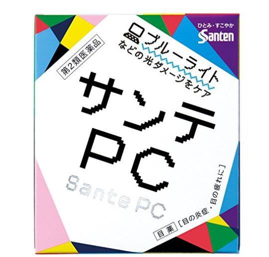 日本参天制药 SANTEN PC眼药水 手机蓝光专用清凉抗疲劳眼药水