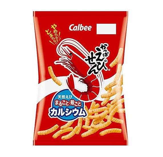 日本零食 Calbee卡乐比 天然鲜虾虾条 12包