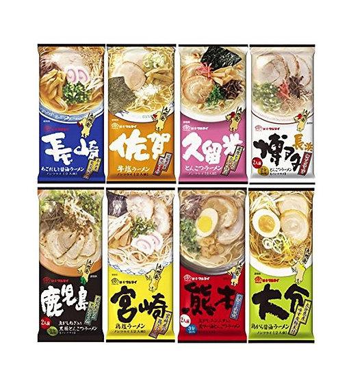 日本marutai九州日式拉面挂面方便面长崎熊本鹿儿岛共8种口味