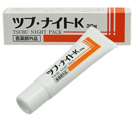 日本Tsubu Night Pack去脂肪粒膏 去眼部角质粒膜贴神器 眼霜 30g