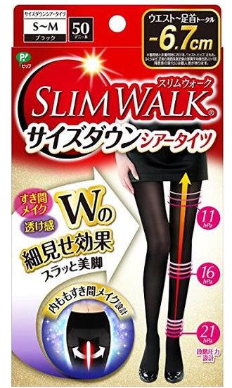 日本 Slim walk 丝翎舒适50D紧身保暖发热纤腿袜