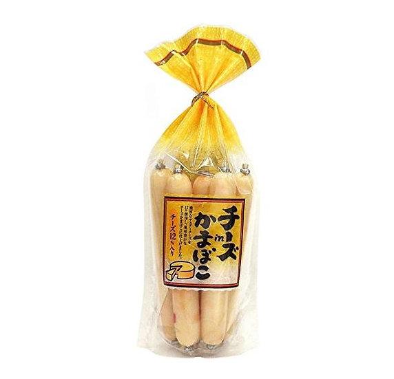 日本奶酪鱼肠 メイホク车打芝士12%鱼肠/芝士鱼肉肠256g8枚入