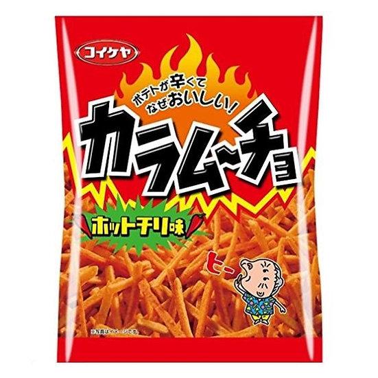 日本零食 湖池屋 咔辣姆久 薯条 辛辣味 大包装 5包