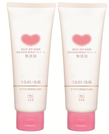 日本COW牛乳石碱共进社 无添加牛乳石碱洗面奶 110g COSME大赏第一位  一支装