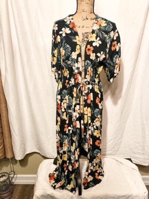 Hawaiian print kimono