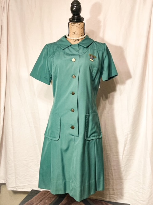 1960s Girl Scout leader official uniform