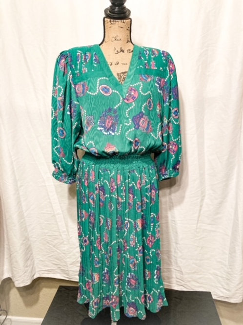 70s Georgette dress with belt