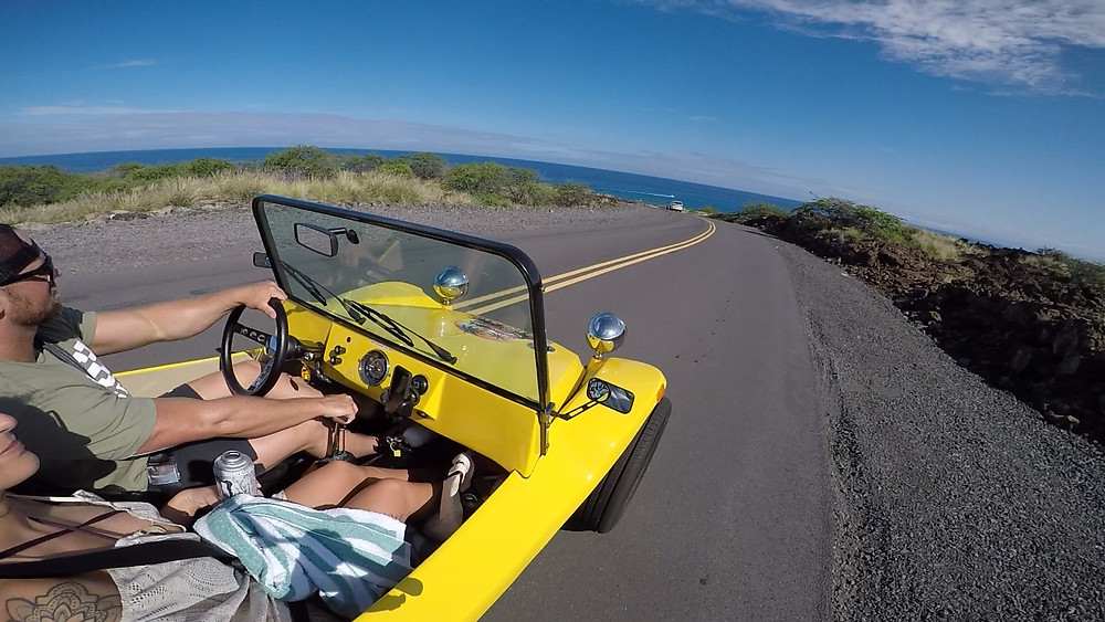 Our buggies travel at highways speeds so you get to see more of the Big Island!