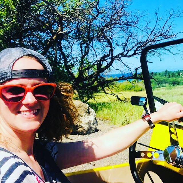 YOU GO GIRL! Jessi cruising in a BIG ISLAND BUGGY!