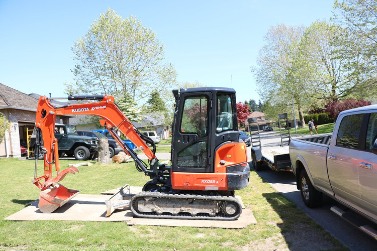 Crush Kubota Excavator