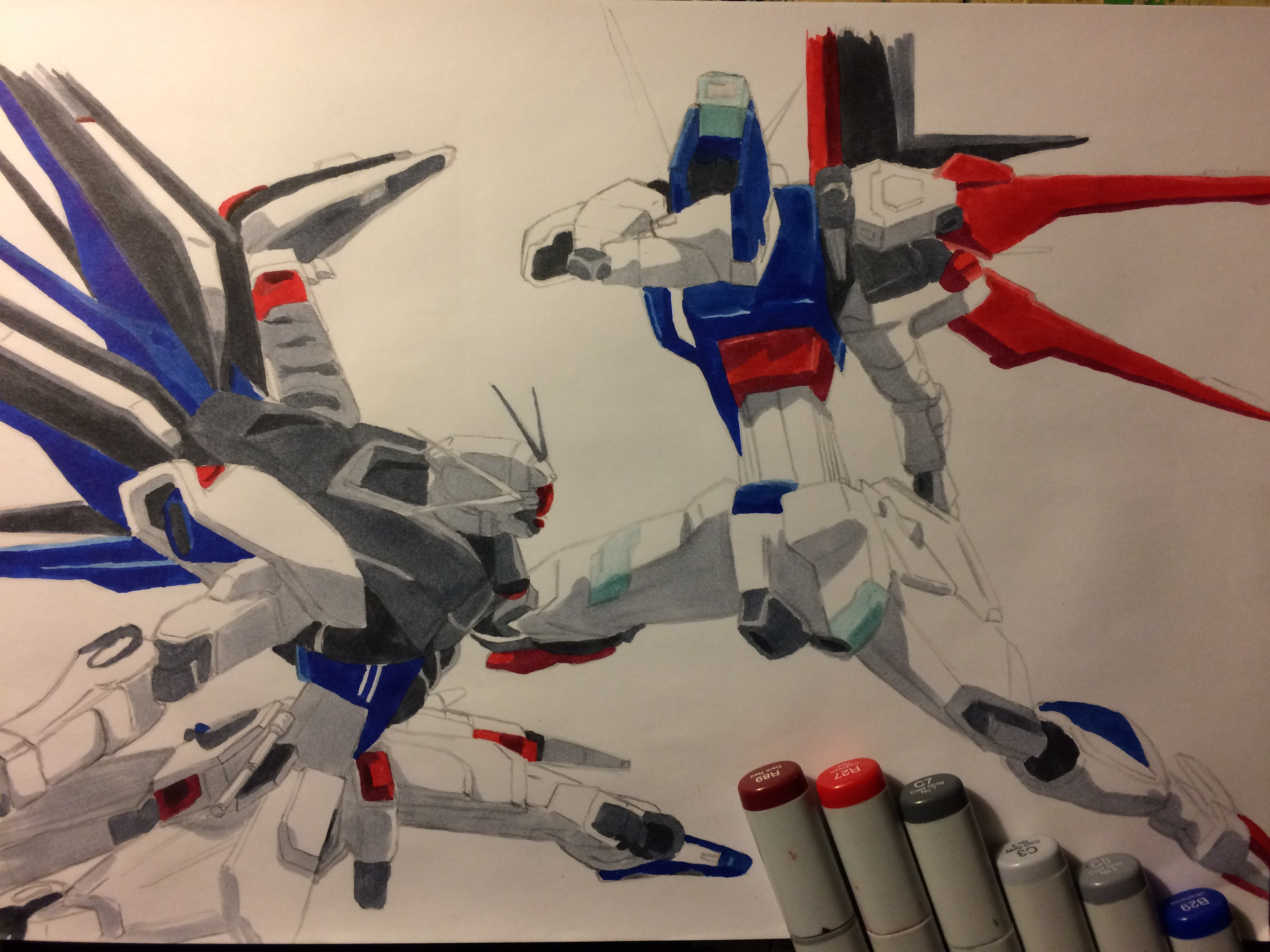 Freedom vs. Impulse Gundam