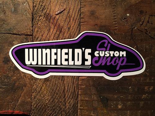 Winfields Custom Shop Stickers
