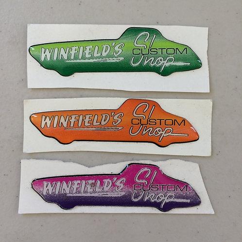 Winfields Custom Shop Bubble Stickers
