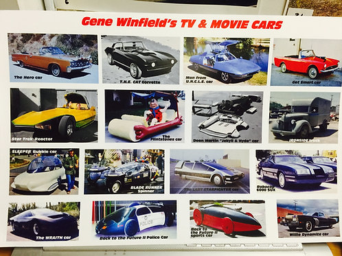 TV & Movie Cars Poster