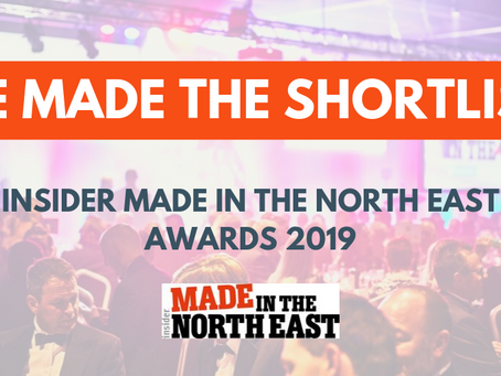 Shortlisted! Made in the North East Awards 2019!
