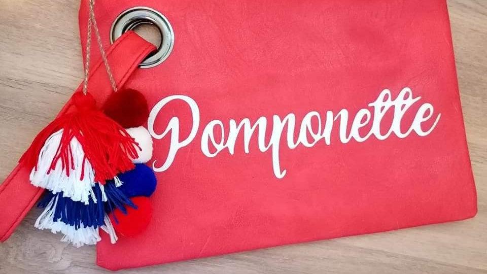 Pochette Pomponette ROUGE
