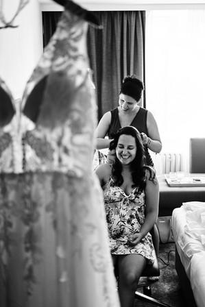 Svatební přípravy nevěsty