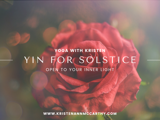 Yin for Summer Solstice