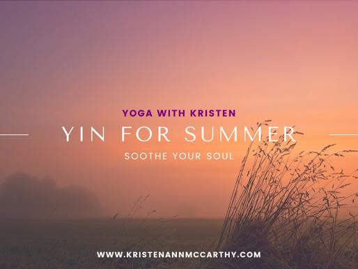 Yin Yoga for Summer