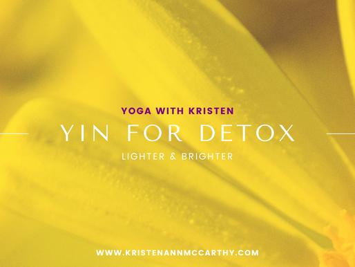 Yin Yoga for Detox