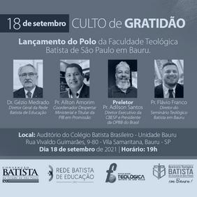 Lançamento do Polo da Faculdade Teológica Batista de São Paulo em Bauru
