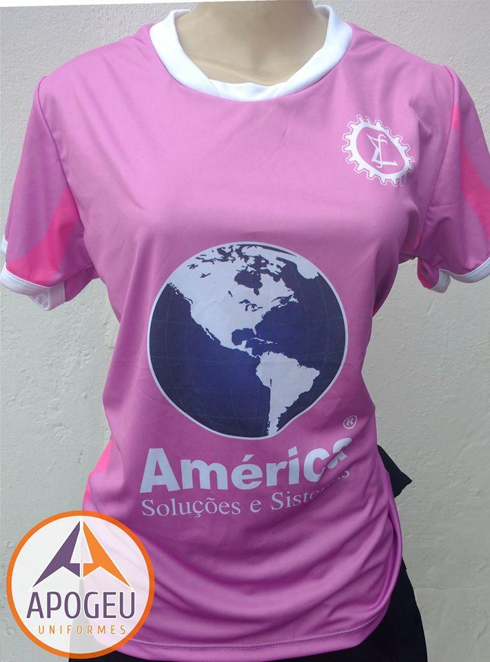 Uniforme Estatística rosa feminino