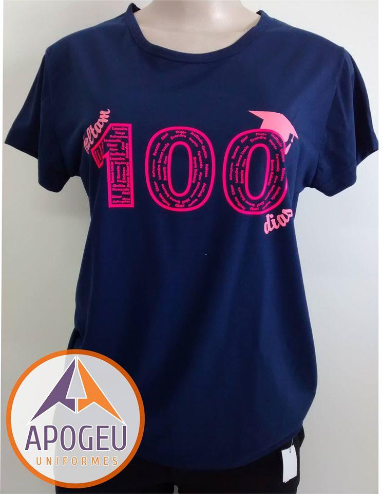 Camiseta 100 dias Adm. Frente