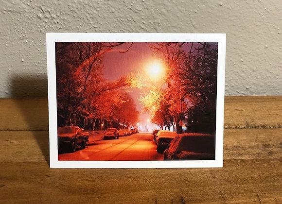 Christmas Card (Snowy Street)