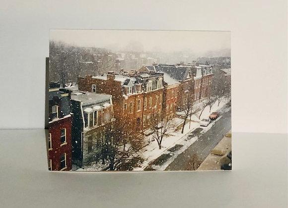 Holiday Card (Snowy Neighborhood)