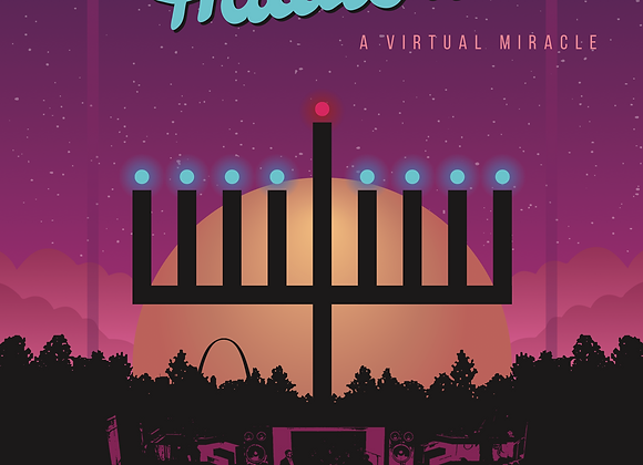 2020 Hanukkah Hullabaloo Commemorative Poster