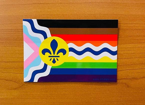 St. Louis Inclusive Pride Flag Sticker