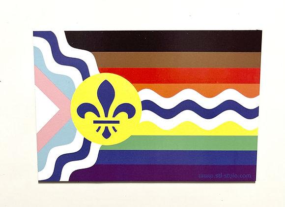 St. Louis Inclusive Pride Flag Magnet