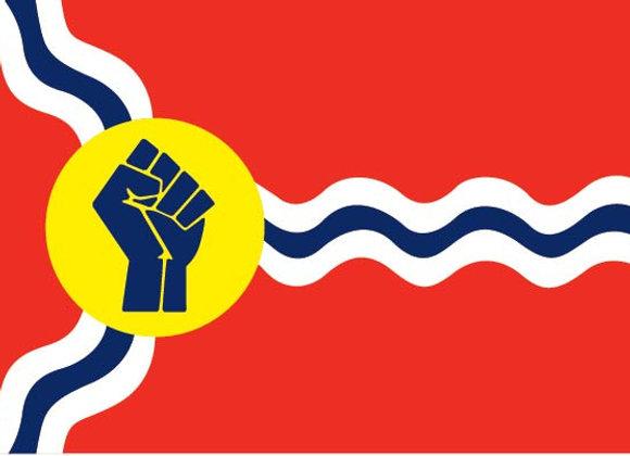 Raised Fist STL Flag Tote