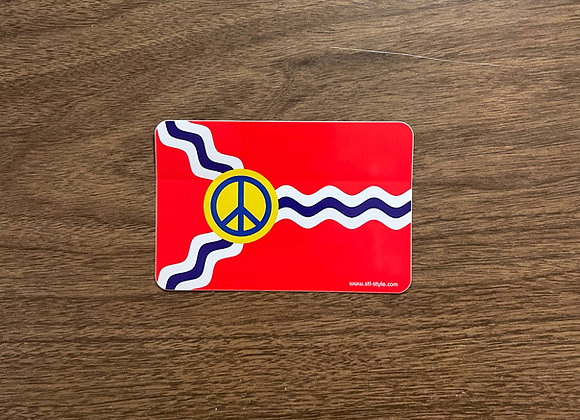 St. Louis Peace Flag Sticker