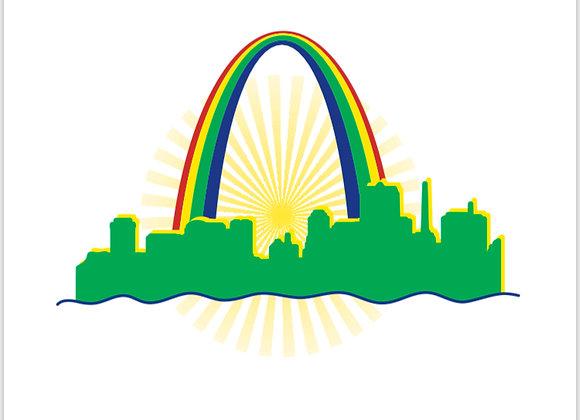 St. Louis Rainbow Skyline Tee