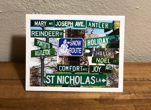 Holiday Card (Street Signs)
