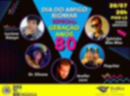 Geração anos 80 - Com Sylvinho Blau Blau, Paquita, Avellar Love (João Penca) , Dr. Silvana e Luciano Nassyn ( Trem da Alegria) - Shopping Rio Mar Recife