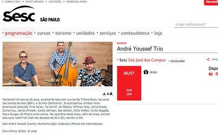 André Youssef Trio - Sesc São José dos Campos